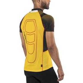 La Sportiva Sonic Hardloopshirt korte mouwen Heren geel/zwart